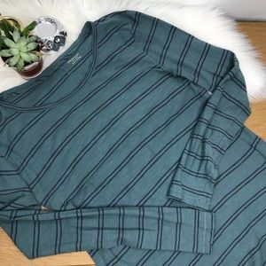Madewell Blue Striped Long Sleeve Shirt #481